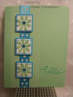 Use with animal stamps instead of flowers for kids card