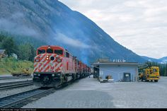 Net Photo: CP 9011 Canadian Pacific Railway EMD at Field, British Columbia, Canada by Rolf Stumpf Freight Transport, Canadian Pacific Railway, Locomotive, British Columbia, Vintage Trains, United States, Train Stations, Canada