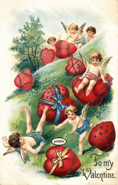 Brand new collection from piddix of 100+ Vintage, Victorian-era valentines available for licensing. #vintage #Valentines