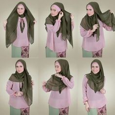 Simple tudung bawal tutorial