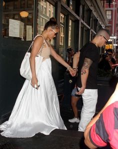 Birthday lunch for Jennifer Lopez and boyfriend Casper Smart leave their midtown hotel in Manhattan, NY on July 24th, 2012.