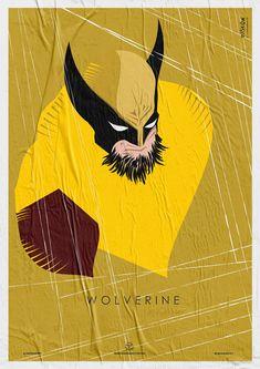 Wiskow • Amor Bandido • Pôster Série Super-Heróis Barbudos  #wolverine #hq #quadrinhos #design #posters