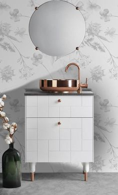 You can use IKEA Products to fulfill a settlement in your home. Please make a list of your home needs and adjust them to your budget. Nine of the best products of IKEA are available for your home. Ikea Hack Bathroom, Gold Bathroom, Simple Bathroom, Bathroom Vanities, Copper Faucet Bathroom, Bathroom Ideas, Marble Bathrooms, Bathroom Trends, Industrial Bathroom