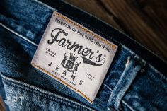 Screen printed jacron label made in Italy by Panama Trimmings #denim #details #vintage #labeling