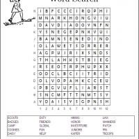 printable girl scouts printable word search free printable games