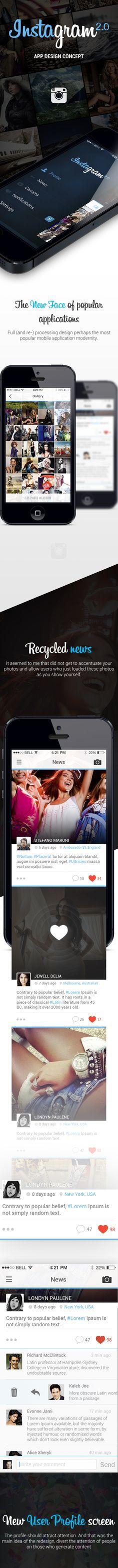 Instagram. App Design Concept on Behance