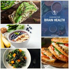 'Cooking for Brain Health' is filled with breakfast, lunch, dinner, dessert, and snack ideas. Healthy Brain, Brain Food, Brain Health, Healthy Eating Recipes, Healthy Snacks, Vegan Recipes, Low Salt Recipes, Health And Nutrition, Health Foods