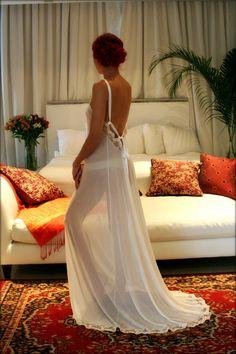 Hochzeitssuite Nachthemd rückenfreie Hochzeits von SarafinaDreams