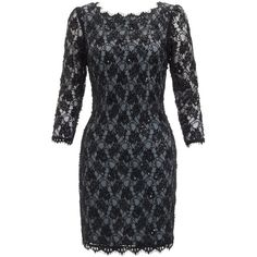 Adrianna Papell Long Sleeve Lace Dress, Slate (72 AUD) found on Polyvore featuring dresses, lace overlay dress, gothic lolita dress, lace sleeve dress, long sleeve fitted dress and lace dress