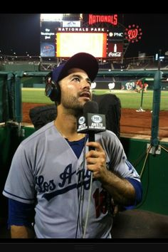 Andre Ethier being interviewed after hitting the game winning home run! #Dodgers