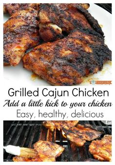 Grilled Cajun Chicken, easy, healthy, delicious #RecipeMakover