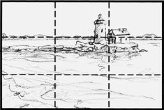 """rule of thirds - a quick reference for finding """"the sweet spot"""" in landscape/still life & other art forms by dividing things up. It refers to the """"Golden Section"""""""