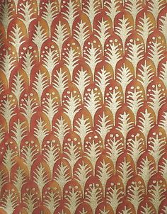 FORTUNY FABRIC Piumette Copper Silvery Gold Venice Italy Remnant New