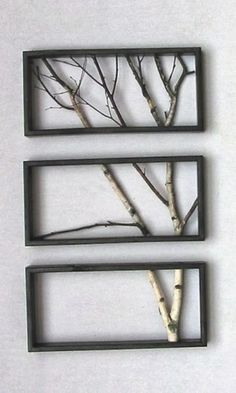 decorative tree branches could be cute...either in a frame or in a vase