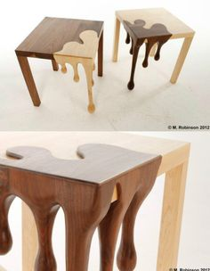 Melting chocolate table, designed by Matthew Robinson