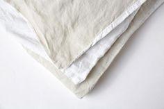 oatmeal/white duvet cover – Deiji Studios