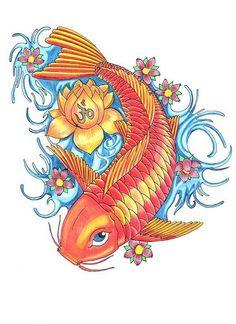 Resultado de imagen de carpas pez koi dibujos                                                                                                                                                                                 Más