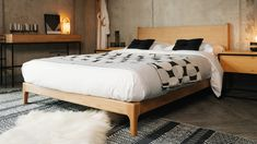 carnaby-low-mid-century-look-bed---solid-oak---1920