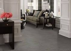 Ideas Red Oak Wood Floors Paint Colours For 2019 Grey Carpet Living Room, Living Room Wood Floor, Rugs In Living Room, Living Room Furniture, Grey Wood Floors, Wood Tile Floors, Hardwood Floors, White Walls, Wood Tile Bathroom Floor