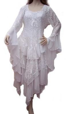 Stevie Nicks Style Wedding Dress in Chiffon & Lace