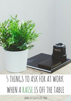 5 Things To Ask For At Work When A Raise Is Off The Table | www.lostgenygirl.com #career #job #success #bosslady