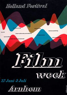 Holland Film Week poster,1955  Otto Treumann