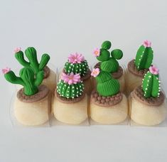 Cute Polymer Clay, Cute Clay, Polymer Clay Crafts, Diy Clay, Mini Cupcakes, Cupcake Cakes, 13 Birthday Cake, Cactus Cake, Pasta Flexible