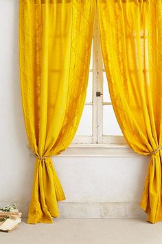 Appliqued Lace Curtain http://rstyle.me/n/pw9fdnyg6