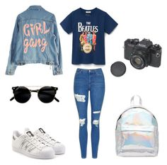 """""""My style! 🌈"""" by recelliekmek ❤ liked on Polyvore featuring Topshop, adidas Originals, ASOS and High Heels Suicide"""