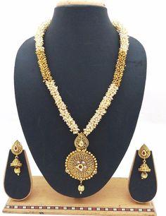 Latest Indian Bollywood Designer Kundan Pearl CZ Ruby Necklace Jhumki Earrings #ShouryaExports #EthnicandContemporary