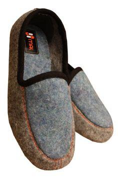 Weri Spezials Jungen Hausschuhe Wolle in Grau mit Blau - http://on-line-kaufen.de/weri-spezials/weri-spezials-jungen-hausschuhe-wolle-in-grau-mit