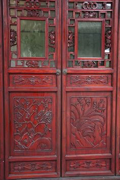 Teahouse doors, Slender West Lake Park, Yangzhou | Flickr - Photo Sharing!