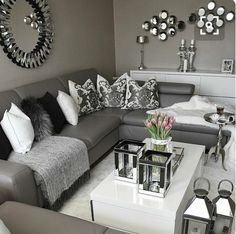 Grey Living Room Ideas Pinterest Interior Design Colors 4368 Best Decor I Need To Do Asap 3 Images In 2019 Livingroom Silver And Bedroom
