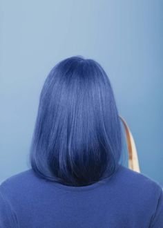 Arc-en-ciel de cheveux - Blue Hair