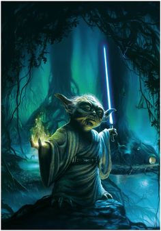 Yoda The Jedi Master best scenes from Star Wars movies.To live without spears. For man and mountain. Film Star Wars, Star Wars Art, Star Trek, Starwars, Star Wars Collection, Images Star Wars, Darth Vader, Kino Film, Love Stars