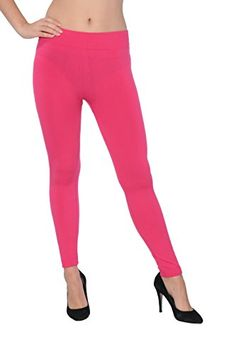 Active Club Solid Color Brushed Fleece Tights Legging Man…