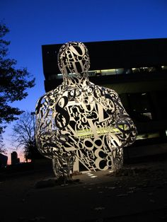 """Jaume Plensa's """"Alchemist"""" at MIT - in front of the Stratton Student Center facing Massachusetts Avenue.  DiscoverMIT.com"""