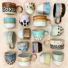 The latest release is now LIVE! Full of cups, mugs and a few planters! Jump in quick to find your your favourite! The latest release is now LIVE! Full of cups, mugs and a few planters! Jump in quick to find your your favourite! Stoneware Clay, Ceramic Cups, Ceramic Art, Porcelain Ceramic, Pottery Mugs, Ceramic Pottery, Pottery Art, Thrown Pottery, Slab Pottery