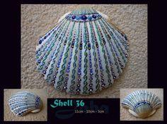 Shell 36 Atlantis unique handpainted ocean shell by Jabashop