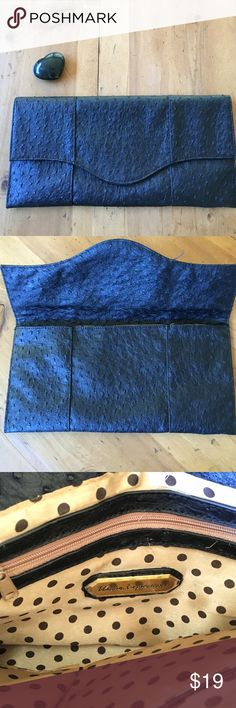 Urban Outfitters Black Vegan Clutch Vegan Black Bag great condition never used 13 in long 61/2 in deep wonderful basic for your wardrobe polka dots inside magnetic closure Urban Expressions Bags Clutches & Wristlets
