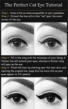 Hacks, tips and tricks to getting the perfect winged eyeliner, cat eye