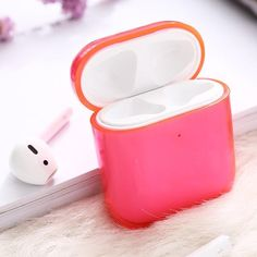 For Apple Air pods Charging Headphone Box Hard Transparent Wireless Bluetooth Earphone Case For Airpods Case Apple Pro, Apple Brand, Give You Up, Earphone Case, Ootd, Air Pods, Airpod Case, Cute Cases, Stainless Steel Chain