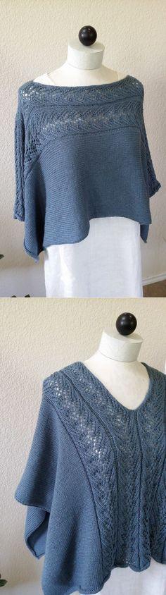 Интересная накидка, которую можно носить в двух вариантах (Вязание спицами) | Журнал Вдохновение Рукодельницы