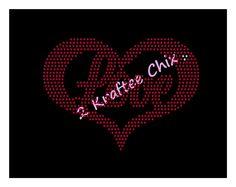 Love Heart Rhinestone Design www.2krafteechix.com 817-941-8016