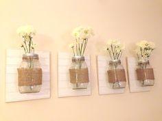 Two Thirds Hazel: Mason Jar Wall Vases