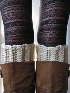 Los Angeles Tan Crochet Boot Cuffs by ClassEStitches on Etsy  Etsy shop, handmade, fashion, wardrobe, accessory, winter, fall, boot toppers, boot liners, boot cuffs, boots, knit