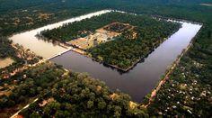 ankor wat aerial view