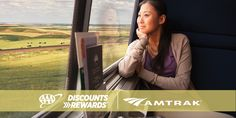 Welcome to relaxing on your vacation. Let Amtrak do the driving and AAA Discounts do the saving. AAA.com/Discounts