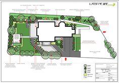 Projekt ogrodu  przy budynku mieszkalno usługowym
