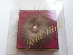 Vintage Mink Brooch  in Original box 1950's by RetroWARDROBE on Etsy